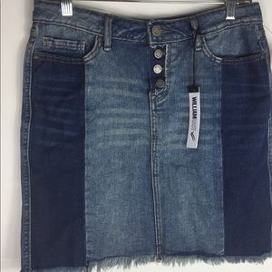 William Rast Juniors Two Toned Denim Skirt Size 28